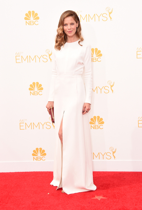 Michelle Monaghan in Giambattista Valli Couture at the 2014 Emmy Awards.