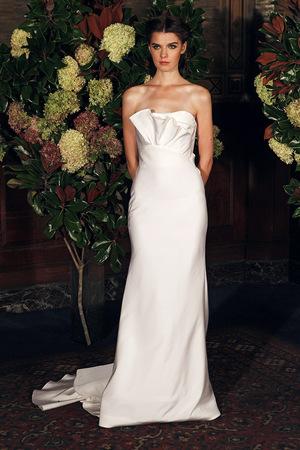 strapless column gown- austin scarlett