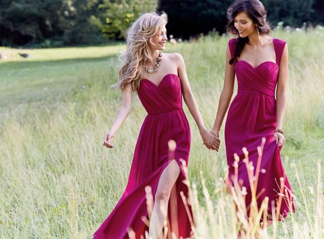 Fuscia-Bridesmaid-Dresses