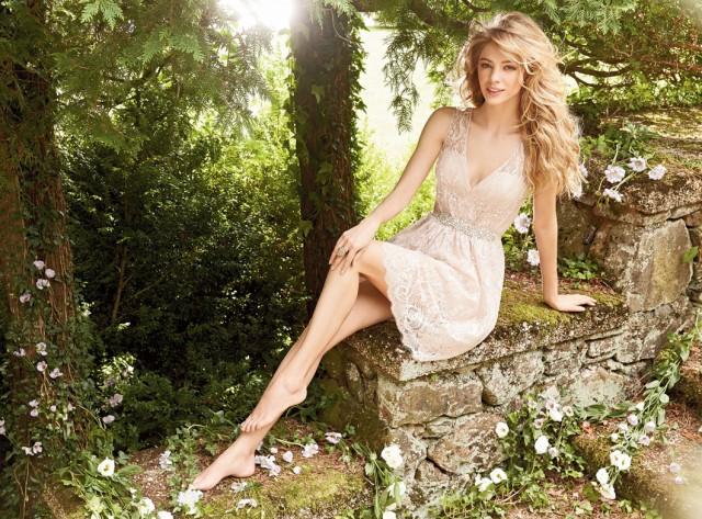 Pink-Lacey-Bridesmaid-Dress