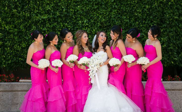 hot-pink-stripes-bridesmaids