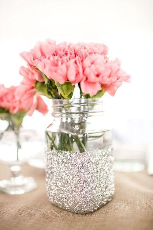 mason-jar-centerpieces-glitter