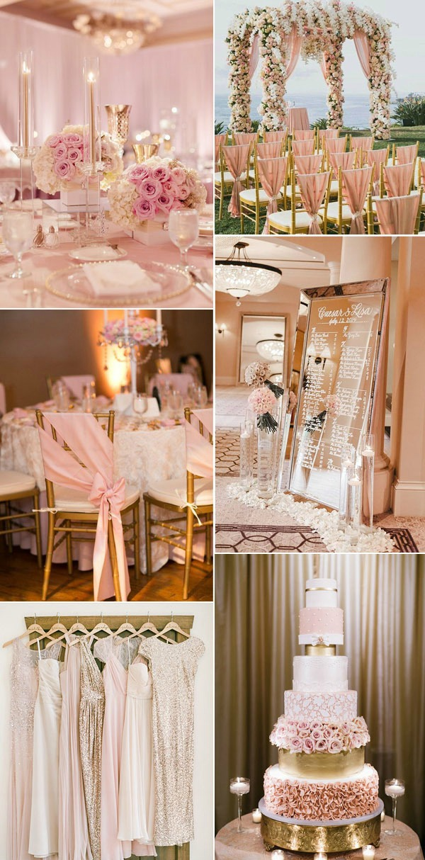 Gold-and-Pink-Blush-Inspired-Wedding-Color-Ideas